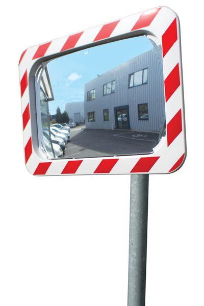 Verkeersspiegels 90° voor privéweg