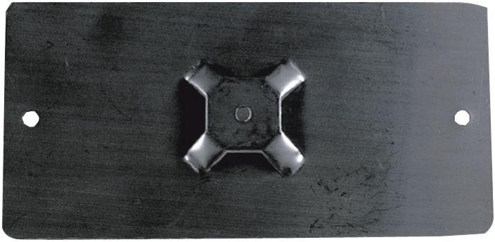 Platte inox houders voor leidingmerkers