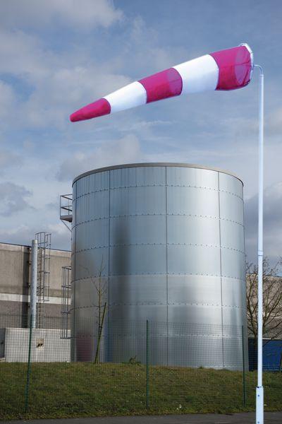 Kit windzak, mast en windwijzer, gehomologeerd volgens ICAO