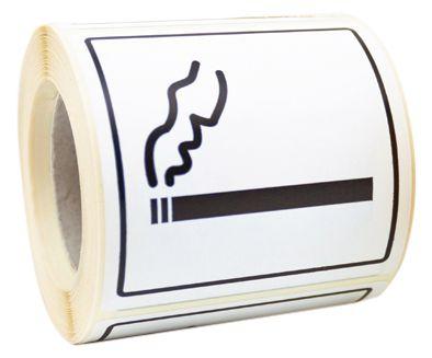 """Informatiestickers rookverbod op rol """"Roken toegestaan"""""""