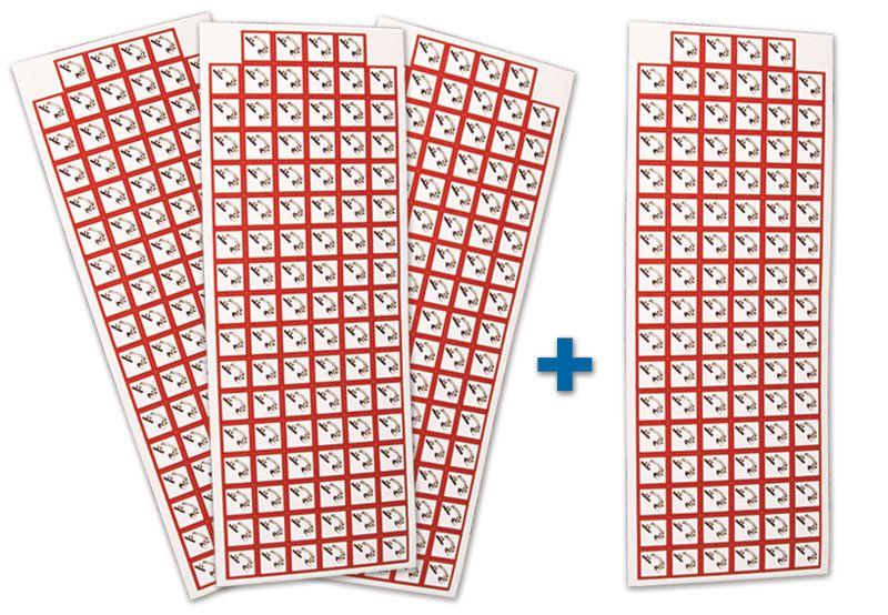 """Set stickers met CLP-pictogrammen - 3+1 vellen """"Bijtende stoffen"""" - GHS05"""