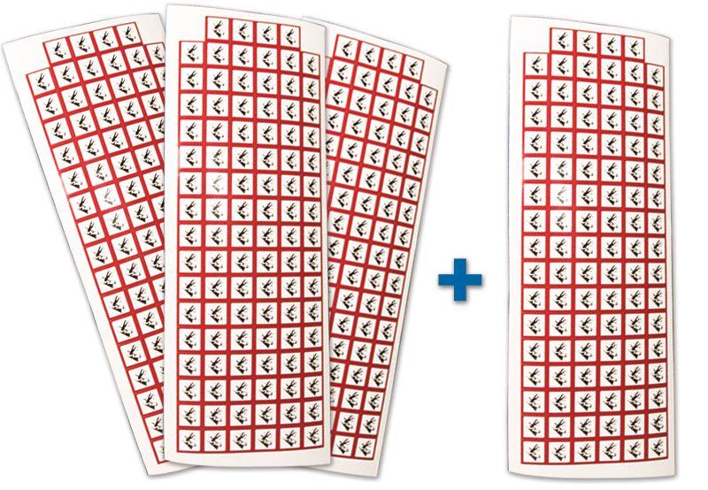 """Set stickers met CLP-pictogrammen - 3+1 vellen """"Schadelijk voor het aquatisch milieu"""" - GHS09"""