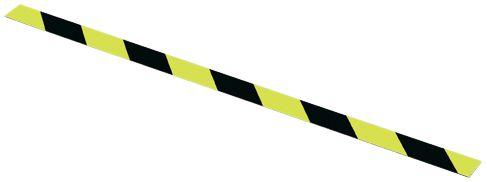 Fotoluminescente waarschuwingsplaat in geel/zwart