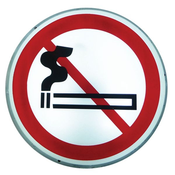 """Verbodsborden met verlichting """"Verboden te roken"""""""