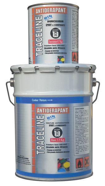 Transparante, polyurethaan antislipverf