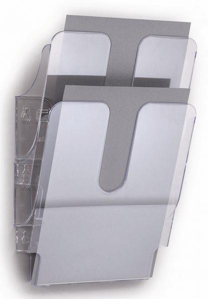 Brochurehouder voor verticale of horizontale muurbevestiging