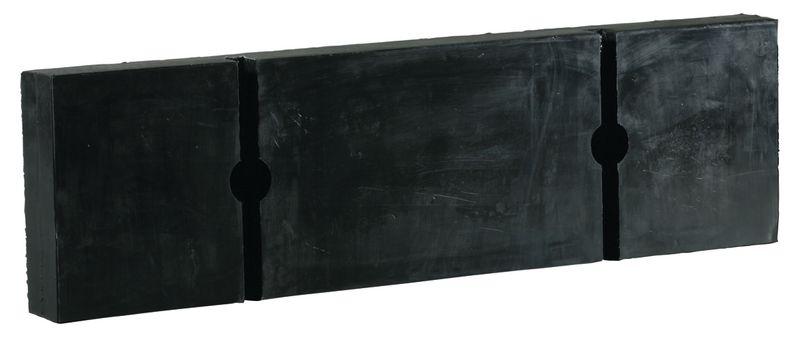 Zwarte rubberen stootblokken voor laadperron