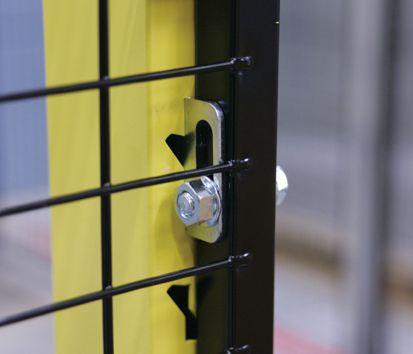 Bevestigingsaccessoires voor palen voor machine afscherming