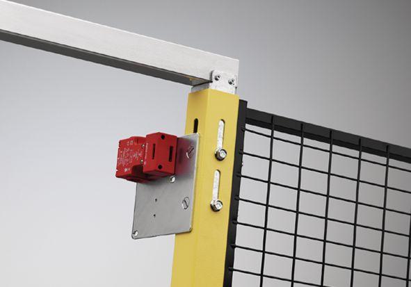 Slot voor veiligheidshek rondom machines, anti-opsluiting