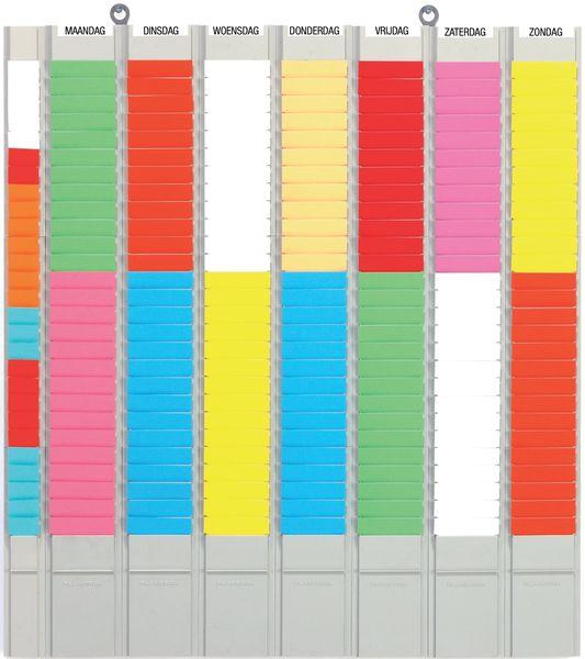 Planborden voor weekplanning, met T-kaarten
