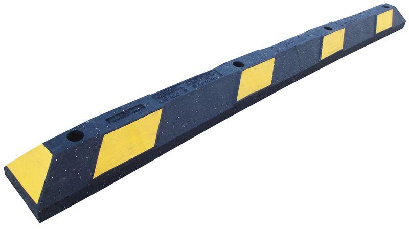 Retroreflecterende parkeerstop van gerecycled rubber