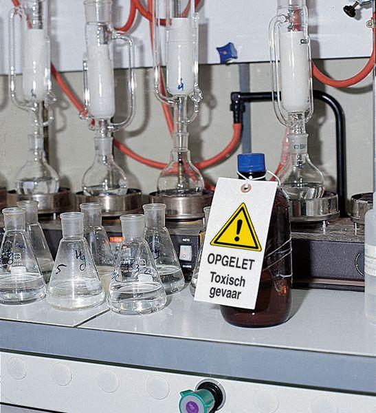 Personaliseerbare hanglabels voor industriëel milieu