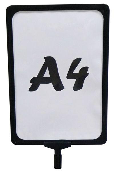 A4-houder van plastic voor paalbevestiging