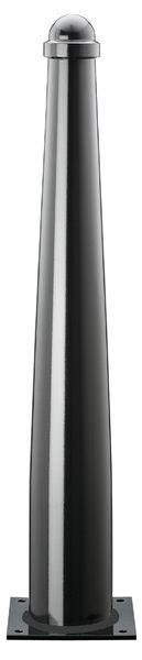 Elegante straatpalen van staal met ronde kop