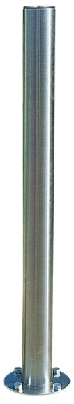 Inox afzetpalen met ronde, platte of holle kop