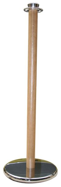 Afzetpalen van hout met ring voor koorden