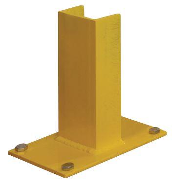 H-vormig profiel voor rekbescherming met houten planken
