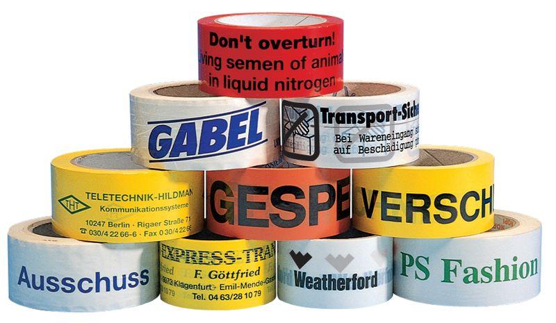 Personaliseerbare verpakkingstape van polypropyleen