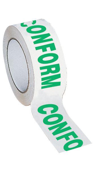 Verpakkingstape voor kwaliteitscontrole - conform / niet conform