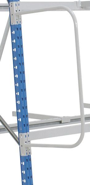 Scheidingsaccessoires voor magazijnstelling met verticale opslag van lange ladingen