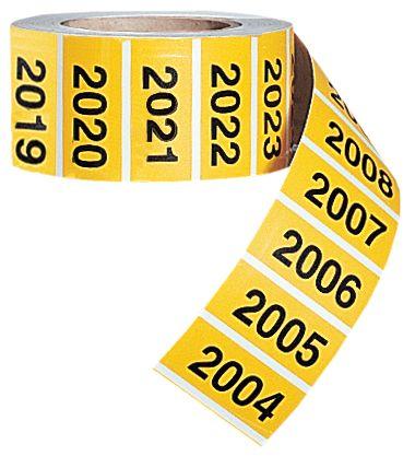 Voorgenummerde stickers van polyester