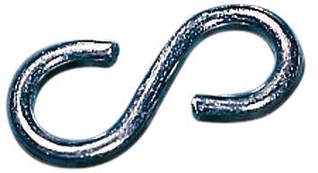 S-haken van gegalvaniseerd metaal voor signalisatiekettingen