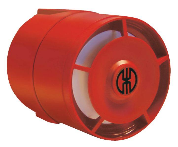 Elektronische alarmsirene van rood ABS