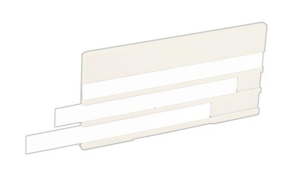 Plastic houder met inschuifplaatjes voor leidingmarkering