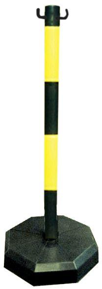 PVC-paal uit 1 geheel met 2 bevestigingshaken