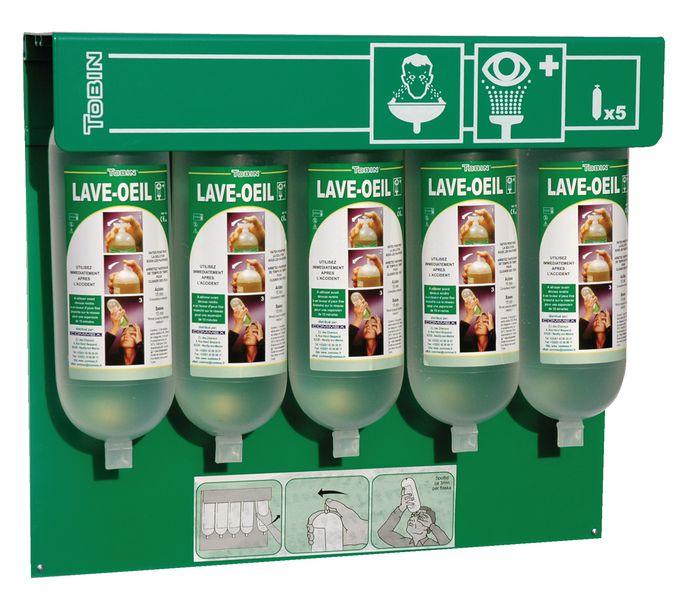 Oogspoelstation: wandbox + 5 x 1 l zoutoplossing