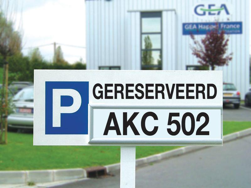 Modulaire parkeerborden - Gereserveerd