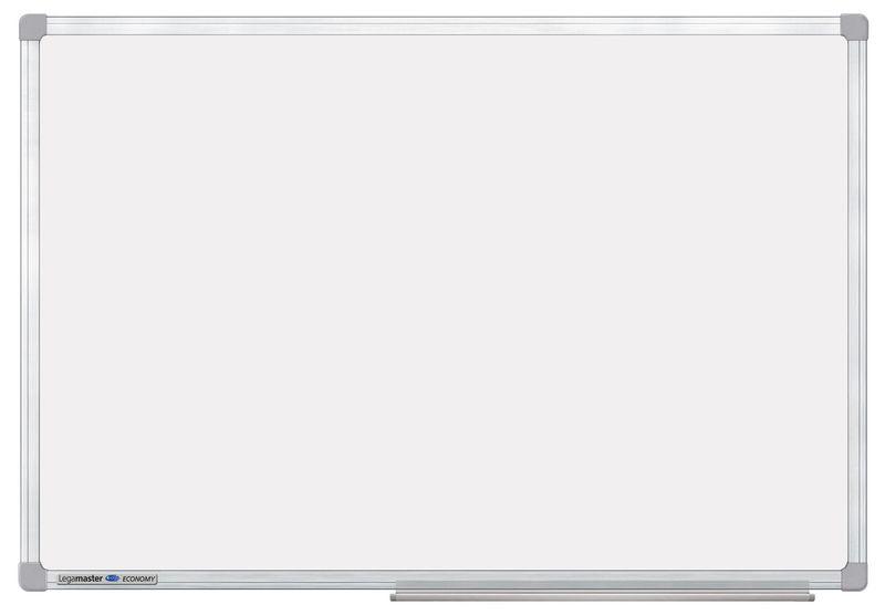 Magnetisch whiteboard met aluminium kader en pennenbakje, gelakt