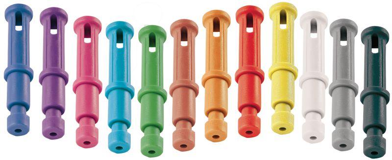 Gekleurde vergrendelende sleutelhangers