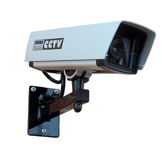 Dummy beveiligingscamera met versterkt glas