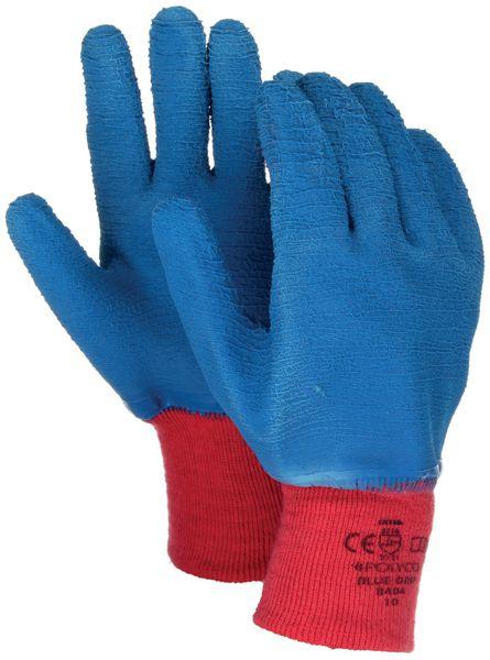Blauwe, antibacteriële handschoenen Polyco Blue Grip® met manchet