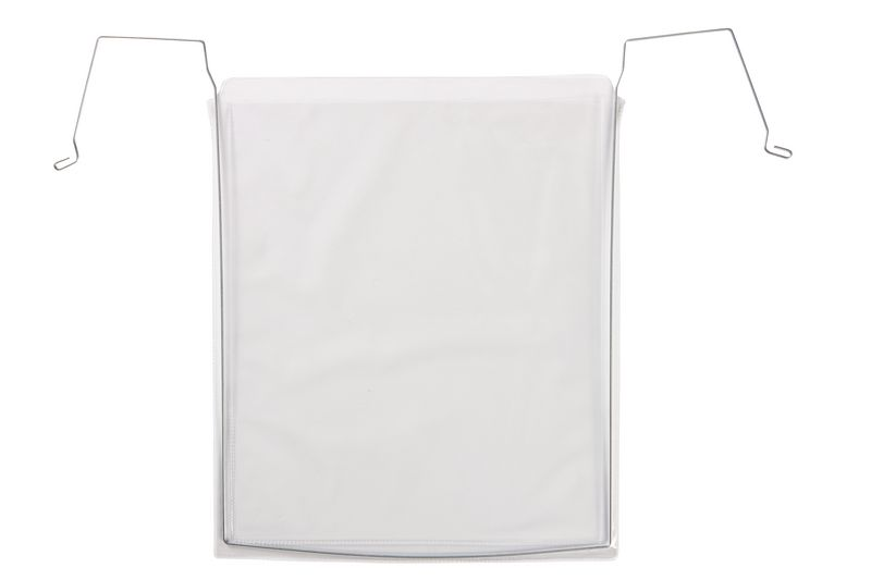 Transparant beschermmapje met haakjes