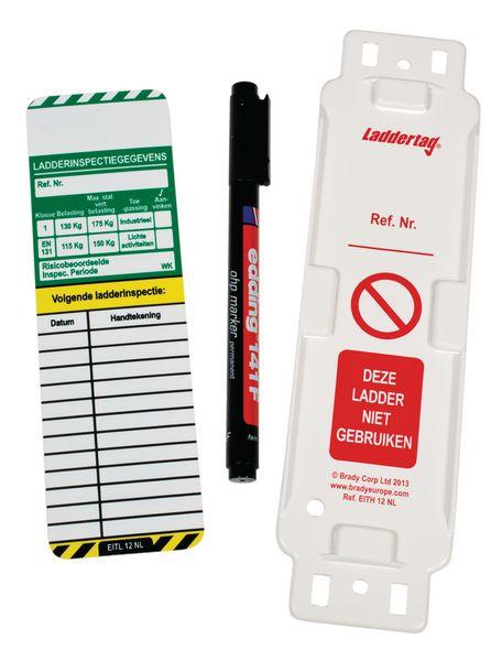 Inspectielabels voor ladders - Uitrustings- inspectiegegevens