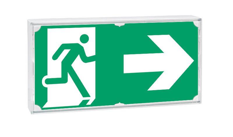 Stickers voor noodverlichting nooduitgang \