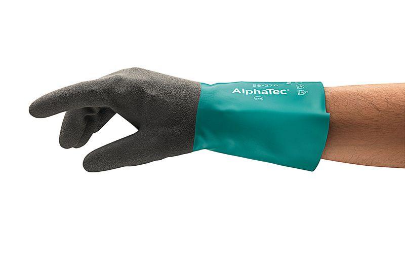 Chemisch bestendige en tactiele handschoenen 58-270 Ansell AlphaTec®