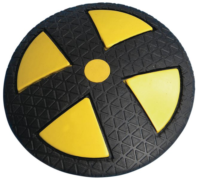Ronde, rubber verkeersdrempel