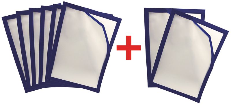 Gekleurde affichehouders met magnetische sluiting, 3 + 1 gratis