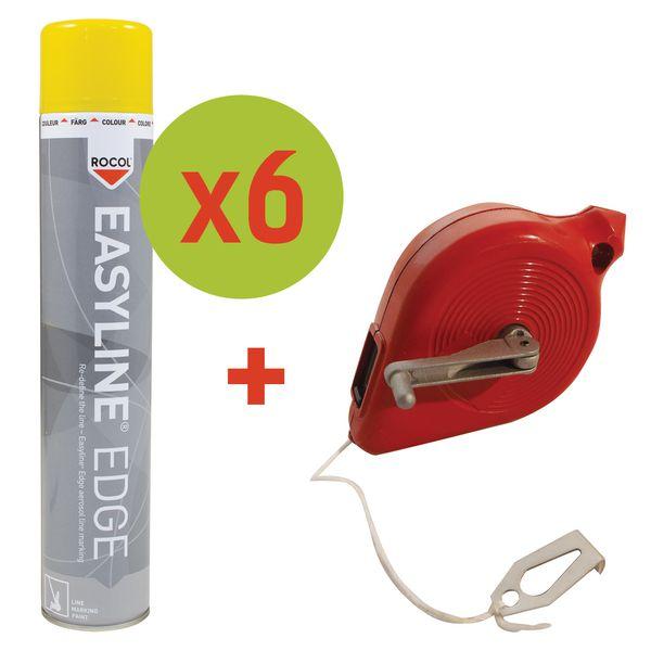 Promopack 6 Easyline® verfspuitbussen + 1 gratis smetlijn