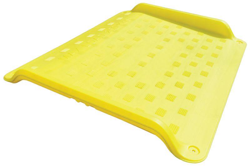 Antislip oprijplaat voor rolstoel van polyethyleen