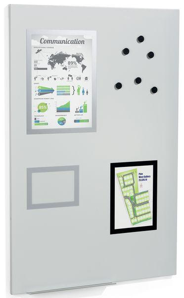 Magnetisch whiteboard met accessoires