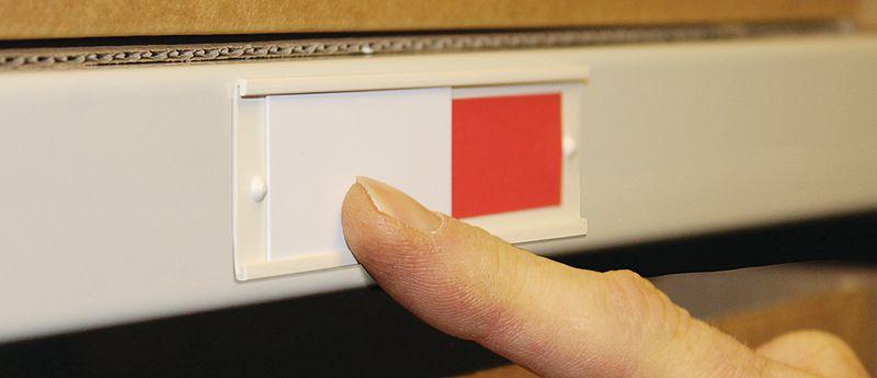 Schuifbord indicator voor voorraadbeheer magazijn