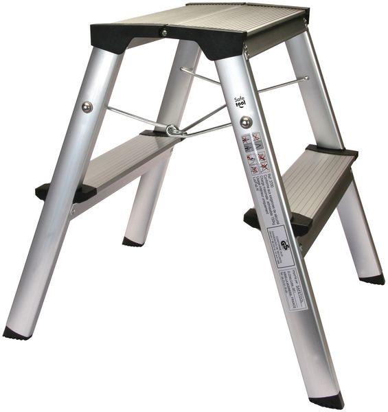 Dubbelzijdig trapladdertje van aluminium