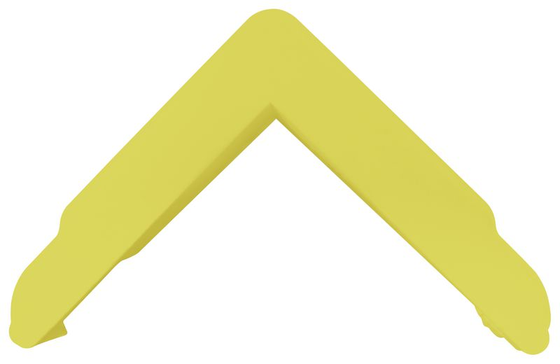 Afdekkap voor plat stootprofiel voor hoeken