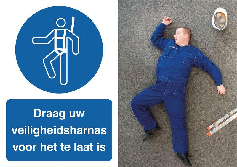 Veiligheidsposter gevolgen - Draag uw harnas - M018