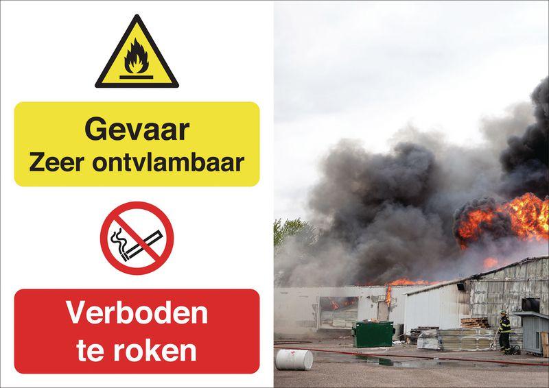 Veiligheidsposter gevolgen - Gevaar roken - W021 P002