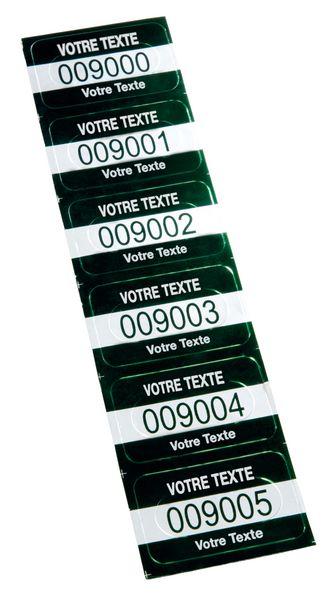 Personaliseerbare eigendomsetiketten SetonGuard® van voorgesneden, geanodiseerd aluminium